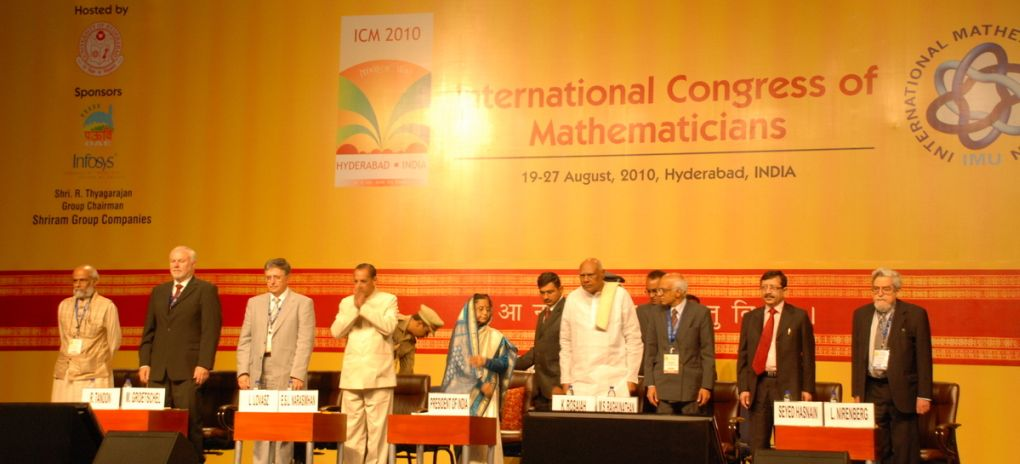 ICM2010 Inaugural session @ Hyderabad